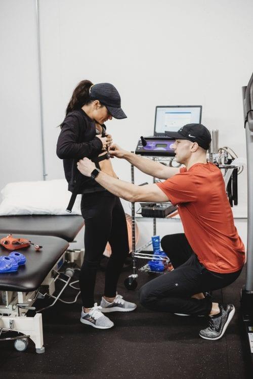 Apex Staff testing resting metabolic rate
